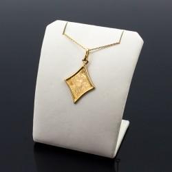 Złoty medalik Matka Boska Częstochowska romb