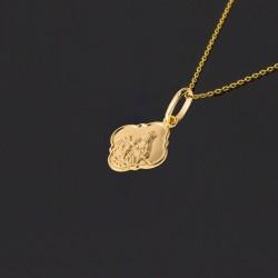 Złoty medalik Szkaplerz dwustronny