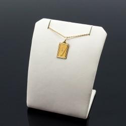 Złoty Medalik Matka Boska prostokąt