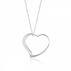 Zawieszka srebrne serce