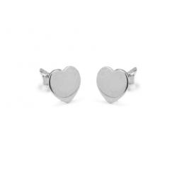 Kolczyki srebrne  serca