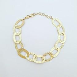 Łańcuch srebrny pokryty żółtym złotem