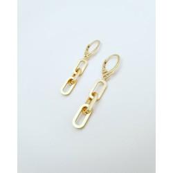 Kolczyki srebrne pokryte żółtym złotem